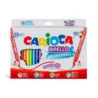 Фломастеры Carioca Birello 24 цвета двусторонние