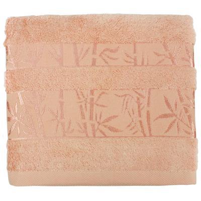 Полотенце махровое Belezza Бамбук 70х130 см 430 г/кв.м персиковое 5 штук в упаковке