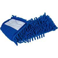 Насадка МОП плоская Home Queen микрофибра 40x10 см голубая