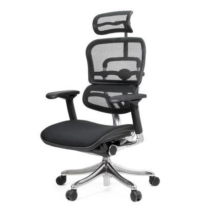 Кресло для руководителя Ergohuman Plus черное (сетка/ткань, металл)