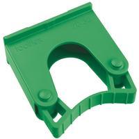 Зажим  для щеток и рукояток Hillbrush Hold 1 G пластик зеленый (диаметр 20-30 мм)