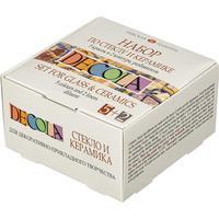 Акриловые краски Decola по стеклу и керамике 5 штук по 20 мл + 2 контура по 18 мл + разбавитель