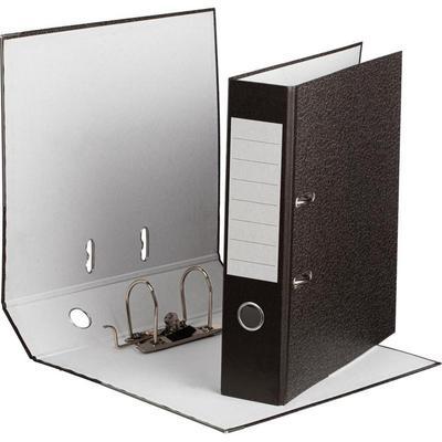 Уценка. Папка-регистратор Attache 75 мм мрамор в ассортименте (черная/серая) (10 штук в упаковке)