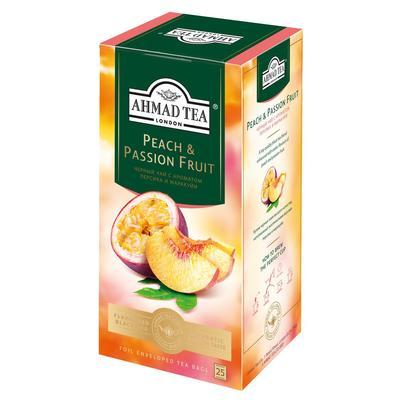 Чай Ahmad Tea черный Персик-Маракуйя 25 пакетиков