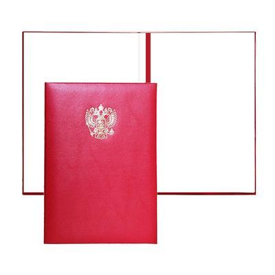 Папка адресная Герб А4 бумвинил бордовая (5 штук в упаковке)