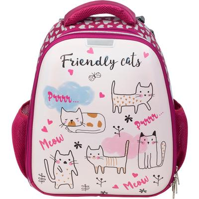 Ранец ортопедический №1 School Friendly cats (экокожа)