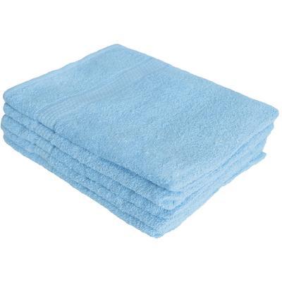 Полотенце махровое 70х140 см 430 г/м2 голубое 5 штук в упаковке