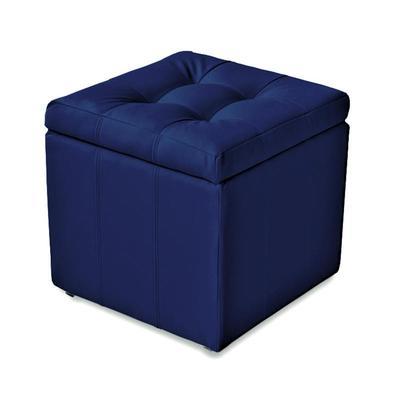 Пуф Модерна синий матовый (искусственная кожа)