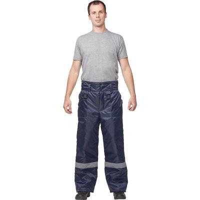 Брюки рабочие зимние з32-БР синие оксфорд (размер 64-66 рост 170-176)