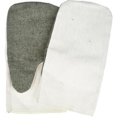 Рукавицы рабочие хб утепленные с брезентовым наладонником белые огнеупорная пропитка (плотность 220 г/кв.м, 5 пар в упаковке)