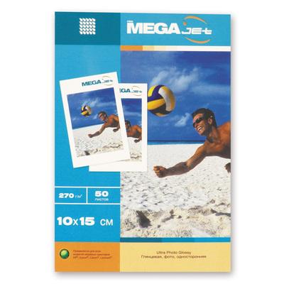 Фотобумага для цветной струйной печати ProMega jet односторонняя (глянцевая микропористая, 10х15 см, 270 г/кв.м, 50 листов)