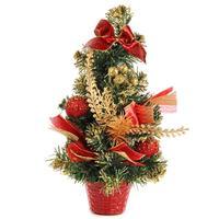 Елка новогодняя настольная 30 см с декором (81865)