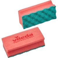 Губки для мытья посуды и уборки Vileda Professional ПурАктив  140х63х45 мм 2 штуки в упаковке красные (арт. производителя 150328)