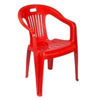 Кресло пластиковое Комфорт №1 красное