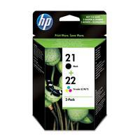 Набор картриджей HP 21/22 SD367AE черный и цветной оригинальный