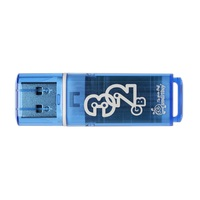 Флеш-память SmartBuy Glossy series 32 Gb USB 2.0 голубая