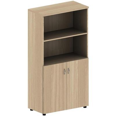 Шкаф для документов Агат АЯ-36 полузакрытый (ясень шимо, 800х400х1520  мм)