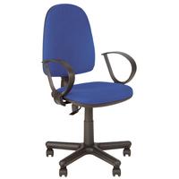 Кресло офисное Jupiter синее (ткань, металл)