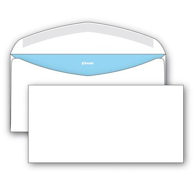 Конверт Комус E65 80 г/кв.м белый декстрин с внутренней запечаткой (1000 штук в упаковке)