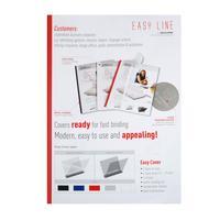 Обложки для переплета пластиковые Opus Easy Cover 150 мкм прозрачные красные (корешок 1.5 мм, 50 штук в упаковке)