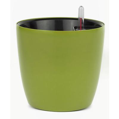 Горшок для цветов с автополивом Комфорт зеленый 3.5 л