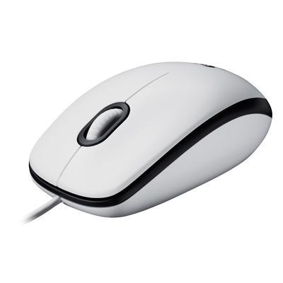 Мышь компьютерная Logitech M100 белая