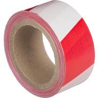 Лента оградительная красная/белая 50 мм х 100 м