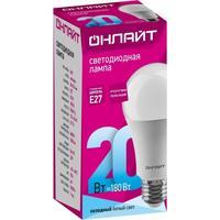 Лампа светодиодная ОНЛАЙТ 20 Вт Е 27 грушевидная 4000 К нейтральный белый свет