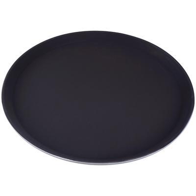 Поднос Gastrorag круглый пластиковый 35.5 см коричневый с нескользящим покрытием
