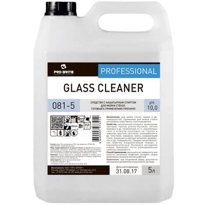 Моющее средство для стекол с нашатырным спиртом Pro-Brite Glass Cleaner (081-5) 5 л (готовое к применению средство)