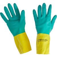 Перчатки КЩС Ansell AlphaTec Бай Колор 87-900 неопрен/латекс синие/желтые (размер 8,5-9, М)