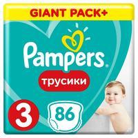 Подгузники-трусики Pampers Pants Midi Упаковка 3 (M) 6-11 кг (86 штук в упаковке)