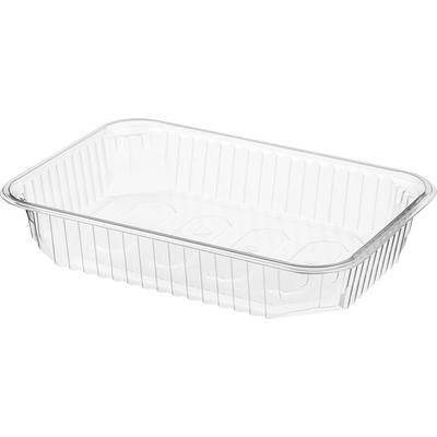 Одноразовый пластиковый контейнер Юпласт для вторых блюд 500 мл прозрачный (500 штук в упаковке)