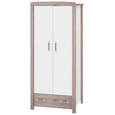 Шкаф Бартоло Ш2Д (нельсон/белый, 850х550х1905 мм)