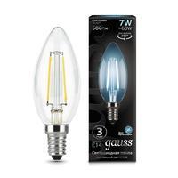 Лампа светодиодная Gauss LED Filament 7 Вт E14 свеча 4100 К нейтральный белый свет