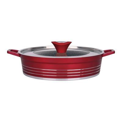 Сковорода-сотейник глубокая Winner Carmen алюминий/мраморное покрытие 26 см