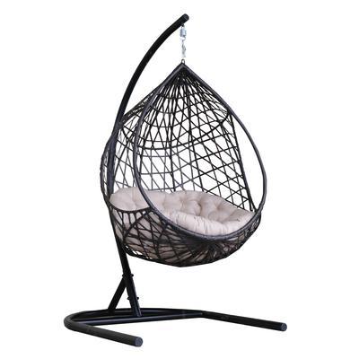 Кресло подвесное Фелиса черное (искусственный ротанг/сталь)