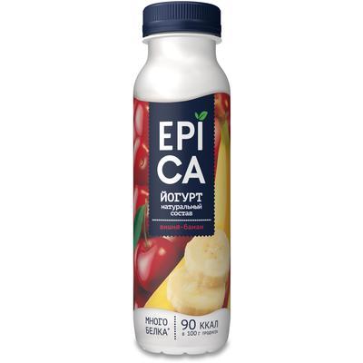 Йогурт питьевой Epica вишня/банан 2.5% 290 г