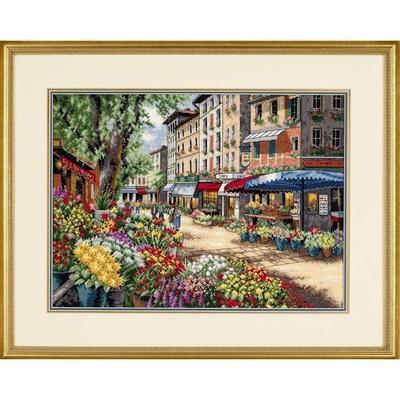 Набор для вышивания Dimensions Рынок в Париже 38x27 см