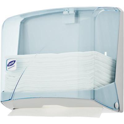 Диспенсер для полотенец лист Luscan Professional синий/прозрачный