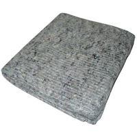 Тряпка для пола нетканое регенерированное прошивное полотно серое 80x100см