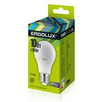 Лампа светодиодная Ergolux LED-A60 10Вт E27 грушевидная 6500 K холодный белый свет