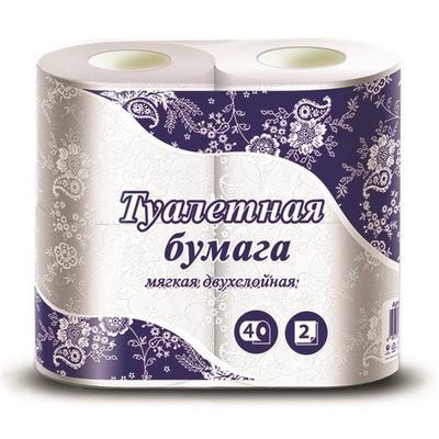Бумага туалетная 2-слойная белая 15 метров (4 рулона в упаковке)