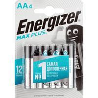 Батарейки Energizer Max Plus пальчиковые AA LR6 (4 штуки в упаковке)