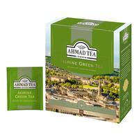 Чай Ahmad Green Jasmine Tea зеленый с жасмином 100 пакетиков