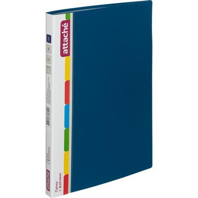 Папка файловая на 40 файлов Attache A4 15 мм синяя (толщина обложки 0.7 мм)