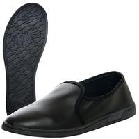 Тапочки из экокожи (чувяки) черные размер 42