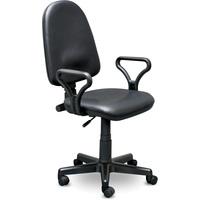 Кресло офисное Prestige черное (искусственная кожа, пластик)