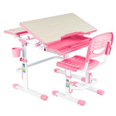 Комплект детской мебели Lavoro Pink парта со стулом регулируемы (розовый)