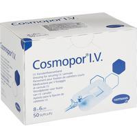 Пластырь-повязка Cosmopor I.V. для фиксации катетеров 8х6 см с подушечкой (50 штук в упаковке)